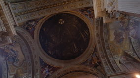 Chiuda su della cupola, chiesa di St Ignatius di Loyola, la città universitaria Martius Fotografia Stock
