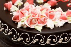 Chiuda in su della decorazione di rosa Fotografia Stock