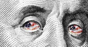 Chiuda in su della fattura del dollaro Fotografia Stock Libera da Diritti