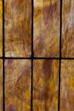 Chiuda su della finestra di vetro macchiato colorata persona neutrale fotografie stock