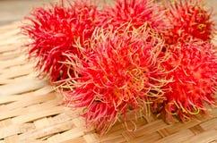 Chiuda in su della frutta del Rambutan Immagini Stock Libere da Diritti
