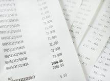 Fattura la lista di acquisto Immagine Stock