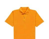 Chiuda su della maglietta gialla Fotografia Stock