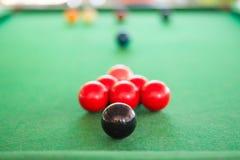 Chiuda su della palla nera dello snooker Fotografia Stock Libera da Diritti