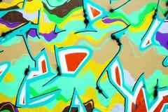 Chiuda su della parete dei graffiti Immagini Stock Libere da Diritti