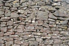 Chiuda su della parete di pietra, la valle molteplice, Staffordshire, Inghilterra Immagini Stock
