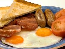 Chiuda in su della prima colazione. Fotografia Stock