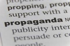 Chiuda su della propaganda di parola fotografia stock