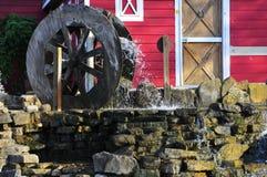 Chiuda in su della ruota idraulica Fotografia Stock