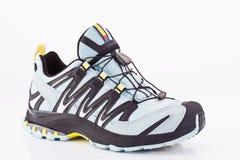 Chiuda su della scarpa da corsa Fotografia Stock