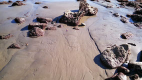 Chiuda su della spiaggia rocciosa della California Fotografie Stock