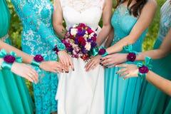 Chiuda su della sposa Fotografia Stock Libera da Diritti