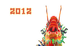 Chiuda in su della statua della testa del drago di stile cinese fotografie stock libere da diritti