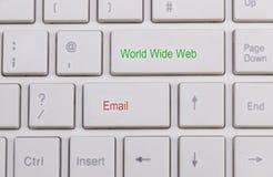 Chiuda su della tastiera bianca Fotografia Stock