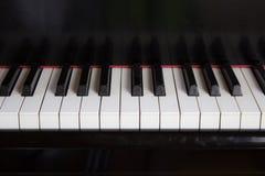 Chiuda su della tastiera di piano Fotografie Stock Libere da Diritti