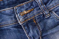Chiuda su delle blue jeans fotografie stock libere da diritti