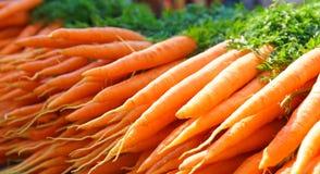 Chiuda in su delle carote fresche immagini stock libere da diritti