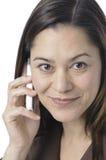 Chiuda in su delle donne che tengono il telefono Fotografia Stock Libera da Diritti