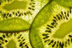 Chiuda in su delle fette del kiwi Fotografia Stock Libera da Diritti
