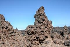 Chiuda su delle formazioni rocciose vulcaniche immagini stock libere da diritti