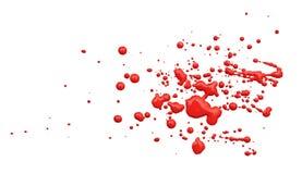 Chiuda in su delle gocce rosse della vernice Fotografia Stock