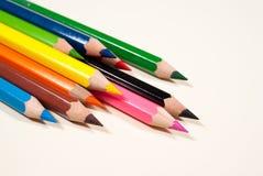 Chiuda in su delle matite di colore Immagine Stock