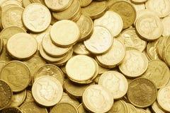 Chiuda in su delle monete Fotografia Stock Libera da Diritti