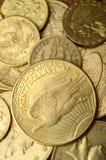 Monete dell'americano dell'oro Fotografie Stock Libere da Diritti