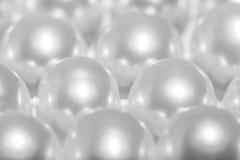 Chiuda in su delle perle Immagini Stock Libere da Diritti