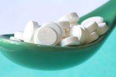 Chiuda in su delle pillole Fotografia Stock
