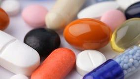 Chiuda su delle pillole giranti
