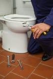 Chiuda su delle pinze della tenuta dell'idraulico Immagine Stock