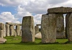 Chiuda su delle rocce di Stonehenge immagini stock libere da diritti