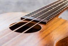 Chiuda su delle ukulele fotografia stock libera da diritti