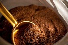 Chiuda su di caffè macinato Fotografia Stock Libera da Diritti
