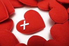 Chiuda su di cuore rosso Immagine Stock Libera da Diritti