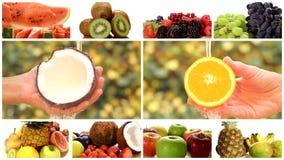 Chiuda su di diversi frutti, montaggio video d archivio