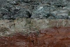 Chiuda su di formazione rocciosa variopinta fotografie stock