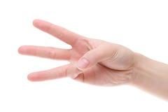 Chiuda in su di gesturing della mano Fotografie Stock