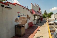 Chiuda su di Lincoln Highway Turkey Hill fotografia stock