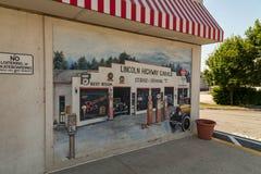Chiuda su di Lincoln Highway Turkey Hill Mural fotografia stock libera da diritti