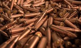 Chiuda su di munizioni Fotografia Stock
