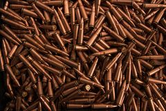 Chiuda su di munizioni Immagini Stock Libere da Diritti