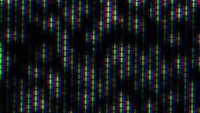Chiuda su di rumore CRT analogico del cinescopio della TV – b&w archivi video