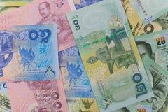 Chiuda su di soldi tailandesi Immagine Stock Libera da Diritti