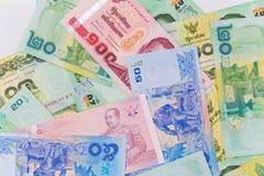 Chiuda in su di soldi tailandesi Immagine Stock Libera da Diritti