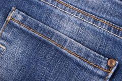 Chiuda su di struttura dei jeans fotografia stock