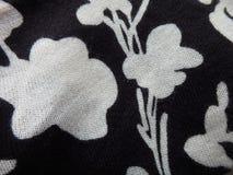Chiuda su di tessuto in bianco e nero Immagini Stock