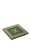Chiuda in su di un chip del CPU del calcolatore Immagine Stock