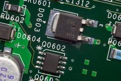 Chiuda su di un circuito elettronico Fotografia Stock